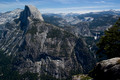 Half Dome and Nevada and Vernal Falls
