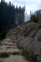 The Mist Trail stairs with Vernal Falls