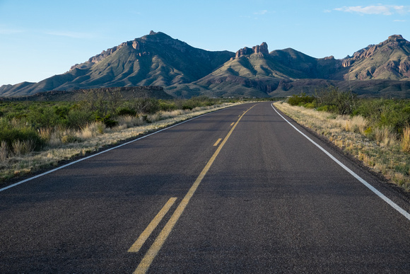 Basin Junction Road - heading into Chisos Mountains